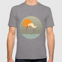 Bird Vertical Mens Fitted Tee Tri-Grey SMALL