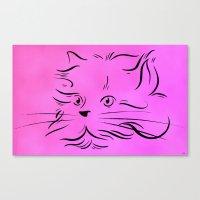 Cat Lines Canvas Print
