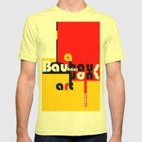 Bauhaus Lamp Mens Fitted Tee Lemon SMALL