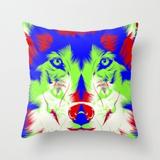 WOLF RGB Throw Pillow