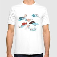 ⌲⌲ Mens Fitted Tee White SMALL