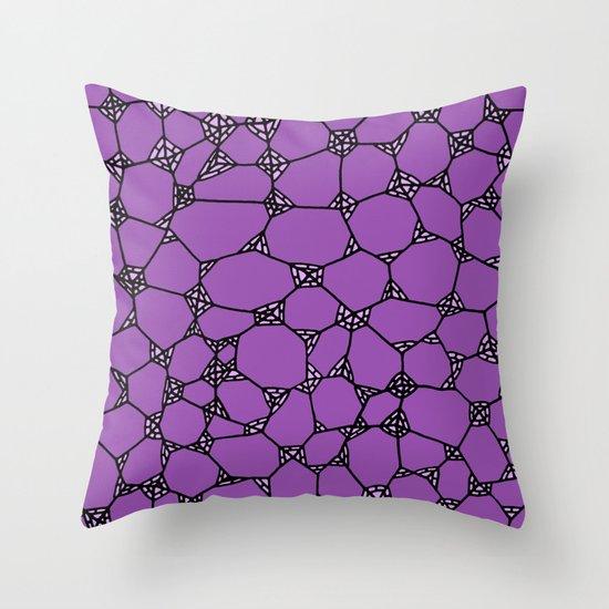 Yzor pattern 006-3 kitai lilac Throw Pillow