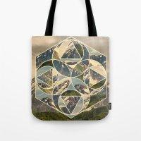 Geometric mountains 1 Tote Bag