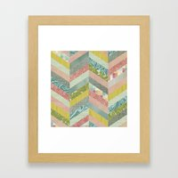 Chevron Pattern Framed Art Print