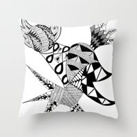 Tenacious Bird Throw Pillow