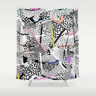 Graphic 83 Shower Curtain