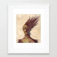 The Woodman Framed Art Print