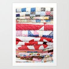 Vintage Quilts Art Print