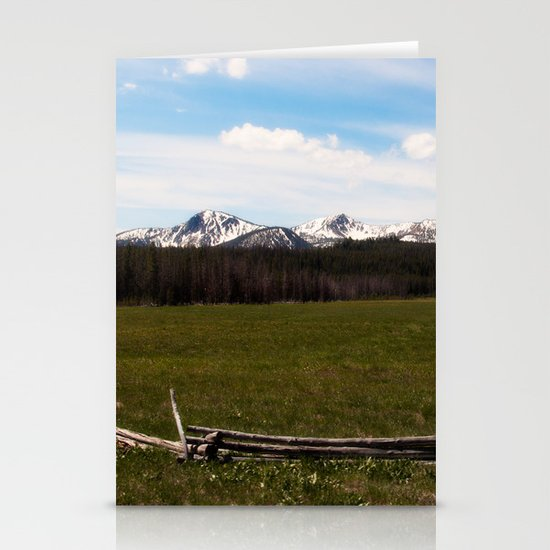 mountains. Stationery Card