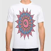 Abstract Sunflower Mens Fitted Tee Ash Grey SMALL