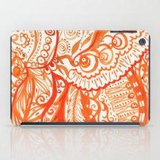 orange brushstroke iPad Case