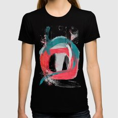 blue meets pink on a cloudy day Womens Fitted Tee Black SMALL