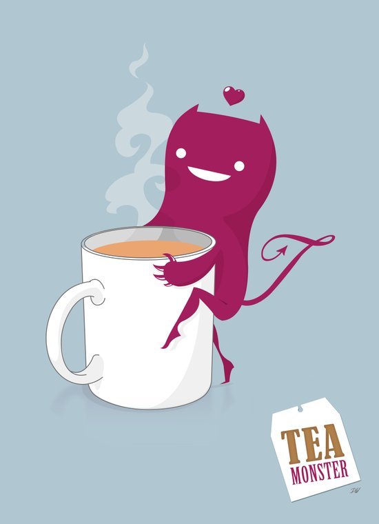 Tea Monster Art Print