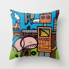 the TRAIN has LEFT THE STATION Throw Pillow
