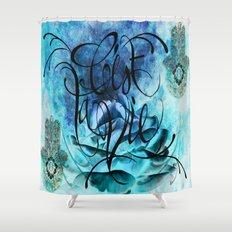 Turquoise Hamsa Shower Curtain