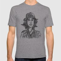 Hypebeast with Braces as a Girl Mens Fitted Tee Athletic Grey SMALL