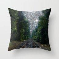 Train Tracks Dream Throw Pillow