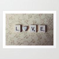 Rock Love Art Print