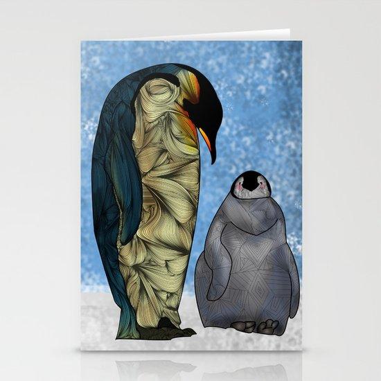 Emperor Penguins Stationery Card