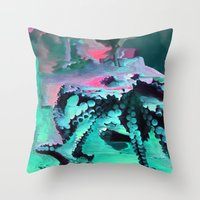 Mint Octopus Throw Pillow