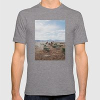 Running Horses Mens Fitted Tee Tri-Grey SMALL