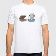 Little Robot  Mens Fitted Tee Ash Grey SMALL