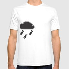 cloudbomb Mens Fitted Tee SMALL White