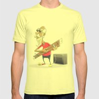 Didley Joe Mens Fitted Tee Lemon SMALL