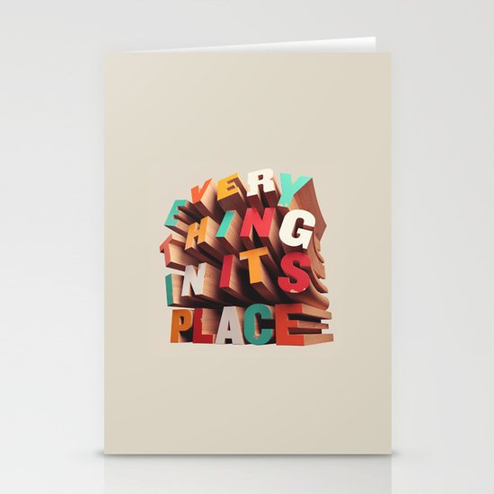 Everything In Its Place Stationery Card