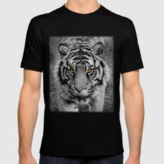 TIGER PORTRAIT Mens Fitted Tee SMALL Black