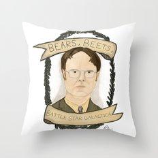 Dwight Schrute Throw Pillow