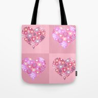 Hearts. Love. Peace. Tote Bag