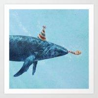 Party Whale  Art Print