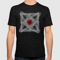 Three Sides Of Chaos Mens Fitted Tee Tri-Black SMALL