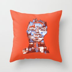 Red King Throw Pillow