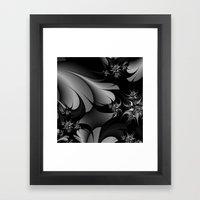 Black and White Fractal 10 Framed Art Print