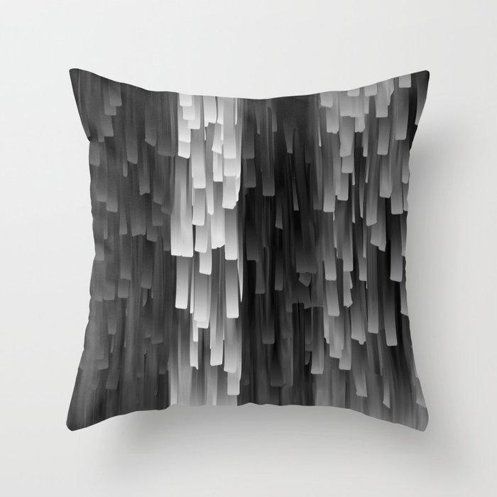 Black Throw Pillows With Fringe : Fringe (Black and White) Throw Pillow by Jacqueline Maldonado Society6
