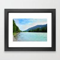 River near Hopfgarten, Austria Framed Art Print