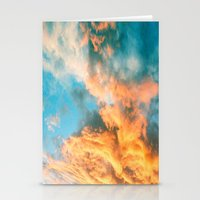 Blue Sunset Clouds  Stationery Cards