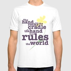 The Hand that Rocks the Cradle (Alternate Version) SMALL White Mens Fitted Tee