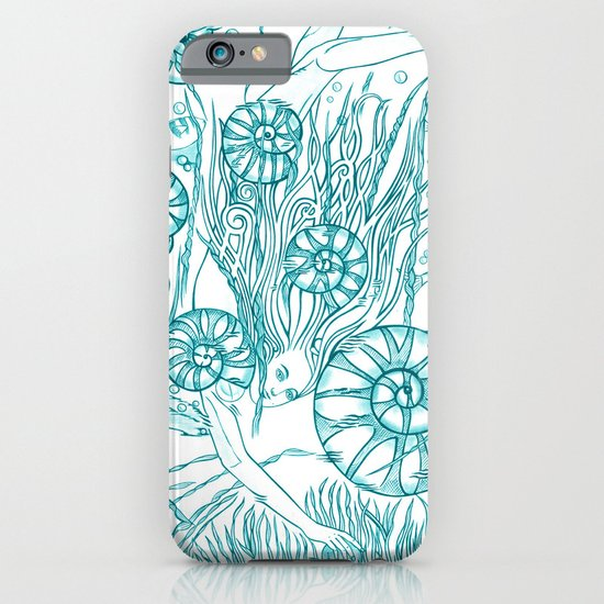 Back To The Water / Original A4 Illustration / Pen & Ink iPhone & iPod Case