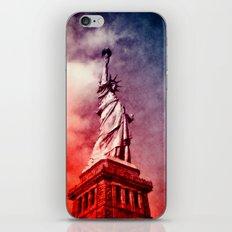 Patriotic Statue of Liberty iPhone & iPod Skin