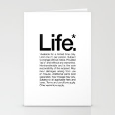 Life.* Available for a limited time only. (White) Stationery Cards