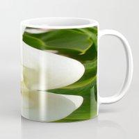 Beautiful Calla Flower On Green Natural Background Mug