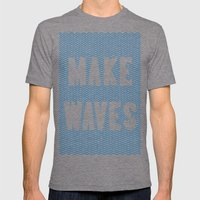 Make Waves Mens Fitted Tee Tri-Grey SMALL