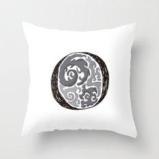 The Brainy O Throw Pillow