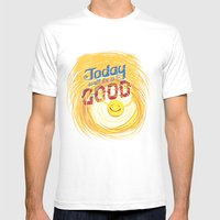 Today will be a good day Mens Fitted Tee White SMALL