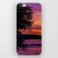 Sunset Over the Beach  iPhone & iPod Skin