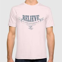 Believe Mens Fitted Tee Light Pink SMALL