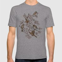 Too many birds Mens Fitted Tee Athletic Grey SMALL